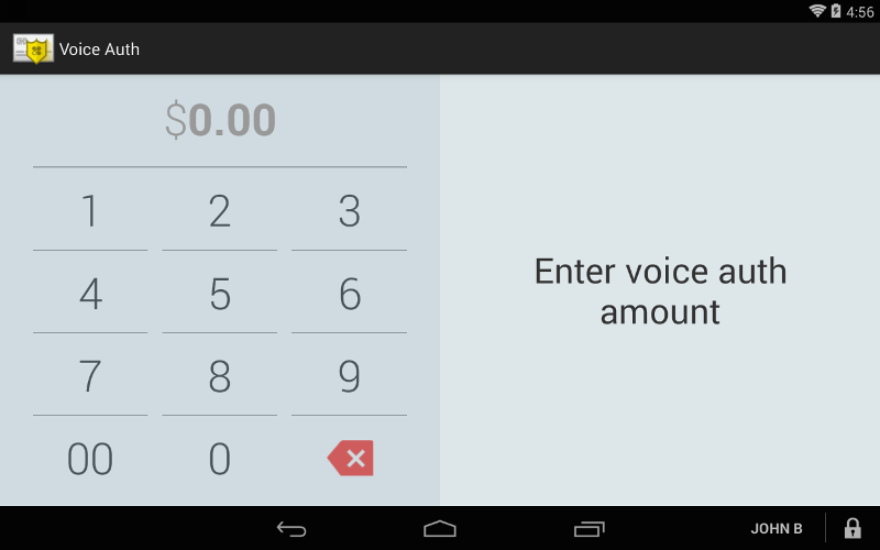 Voice Auth App Screenshot