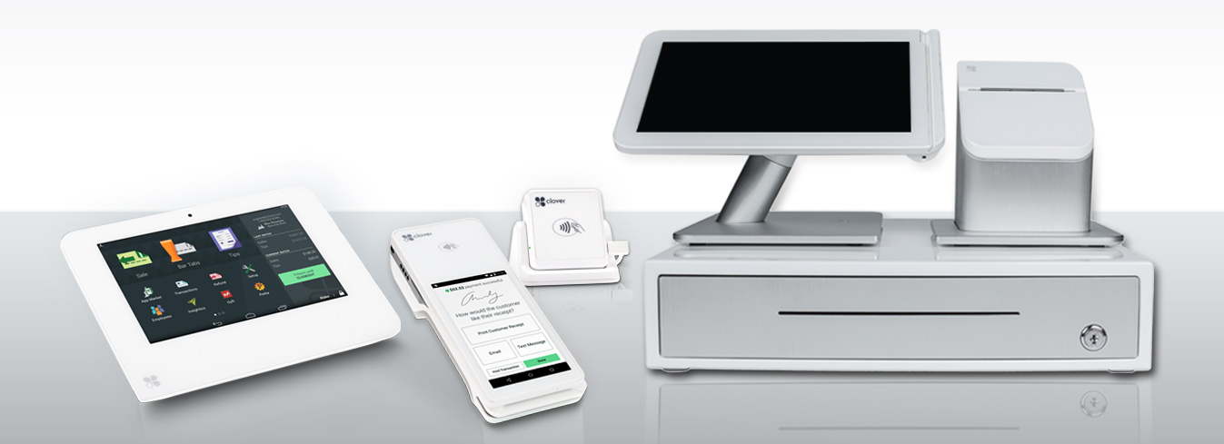 The Clover® POS System is a next generation control system that radically simplifies your business.